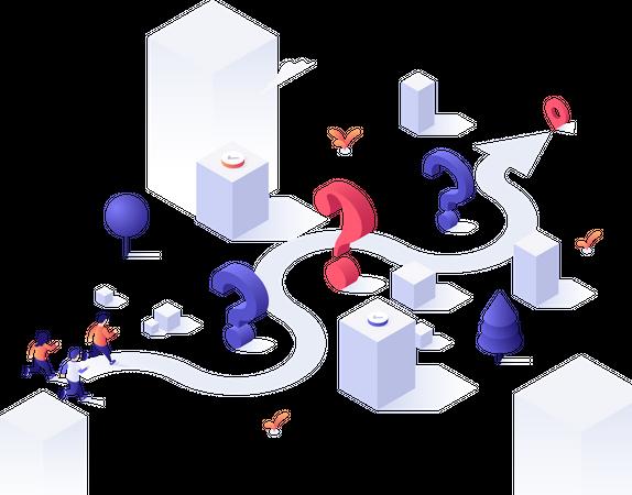 Problem solution flow Illustration