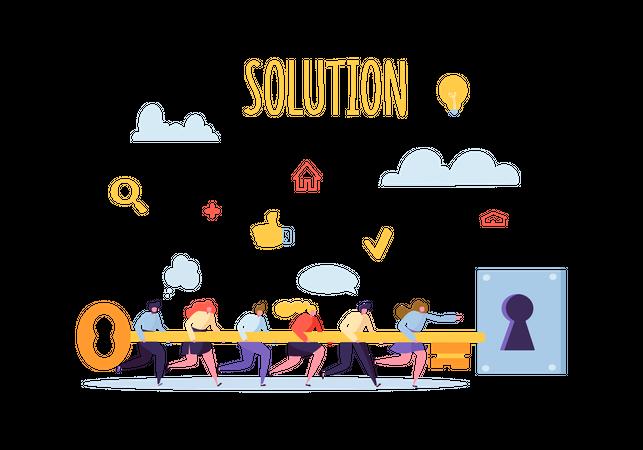 Problem solution key points Illustration