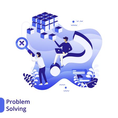 Problem Solving Flat Illustration Illustration