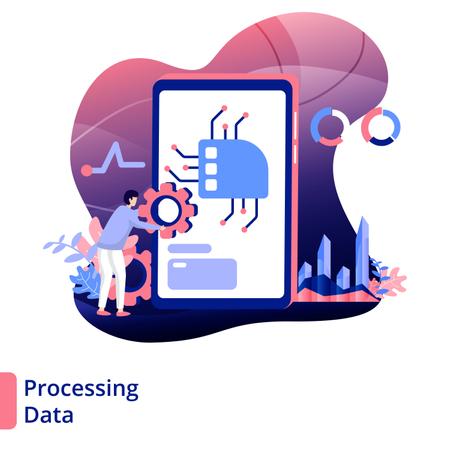 Processing Data Illustration