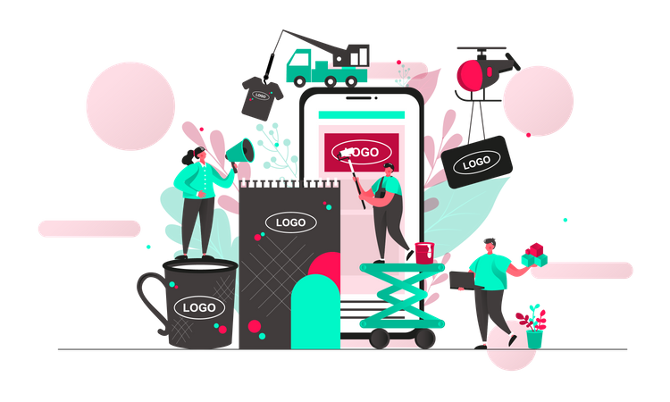 Product branding Illustration