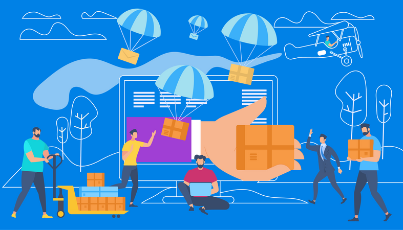 Product delivery process Illustration