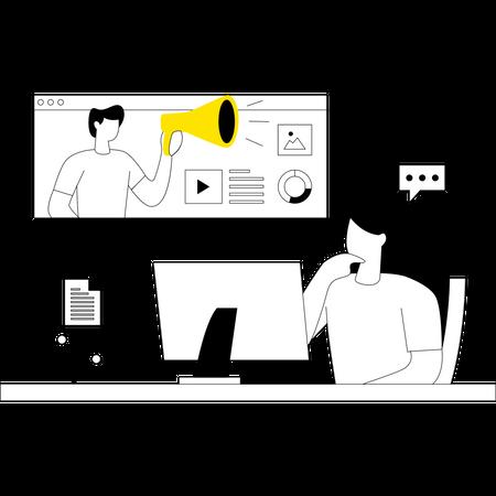 Product Digital Marketing Illustration
