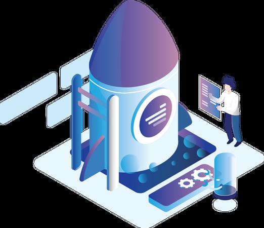 Product launch Illustration