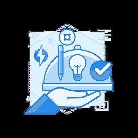 Product Presentation Illustration