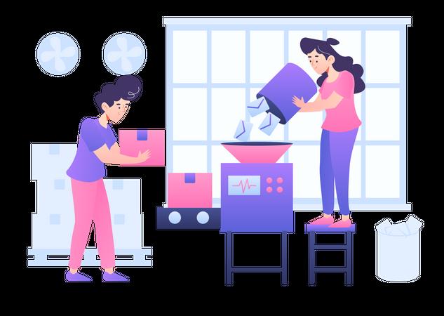 Product Production Illustration