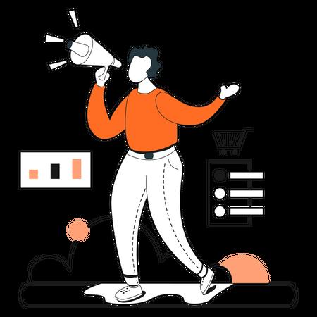 Product Promotion Illustration