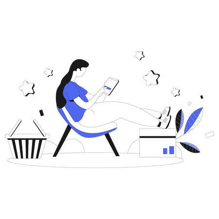Product Review and rating Illustration