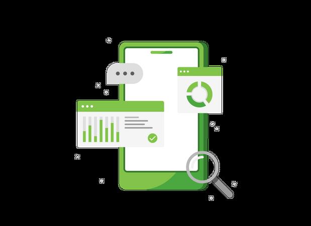 Product sales analytics Illustration