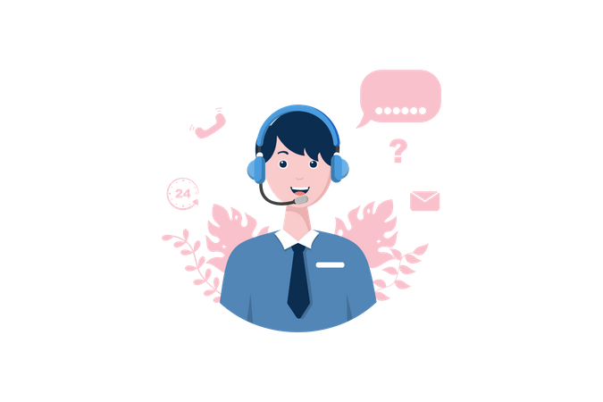 Product Service Center Illustration