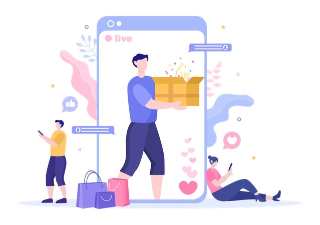 Product Unboxing and review Illustration