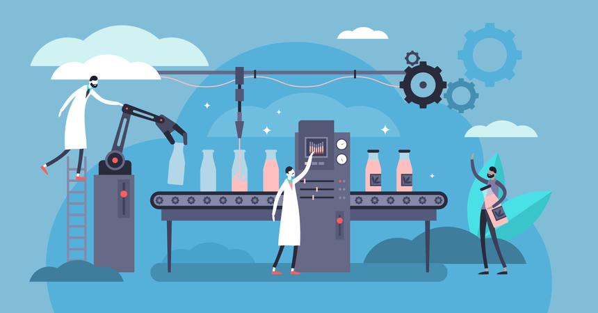 Production factory Illustration