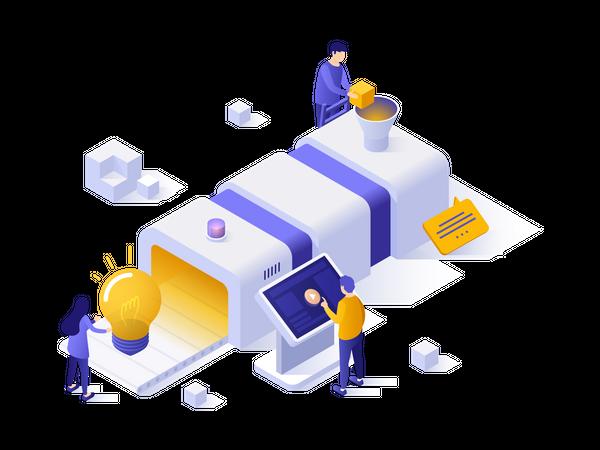 Production of technological innovation Illustration