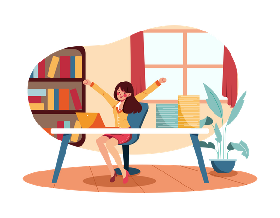 Productive day Illustration