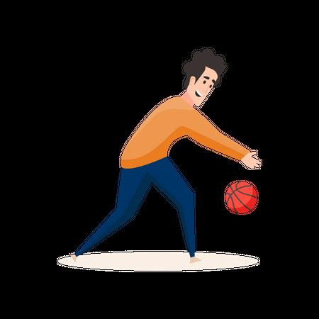 Professional basketball player Illustration
