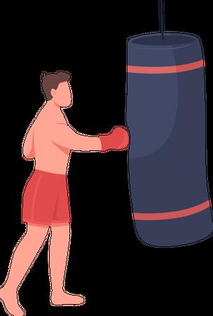 Professional boxer Illustration