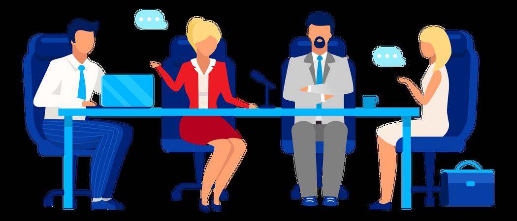 Professional business meeting Illustration