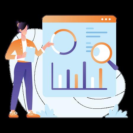Professional Data Analyst Illustration