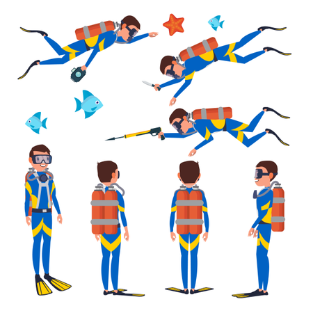 Professional Diver Illustration