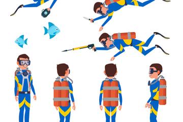 Diver Man Stock Images