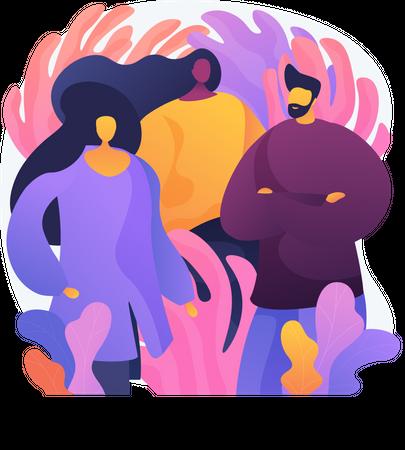 Professional Team Illustration