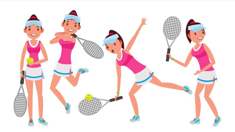 Professional Tennis Player Illustration