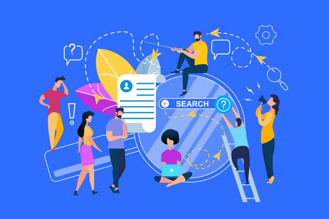Profile Information Search Illustration