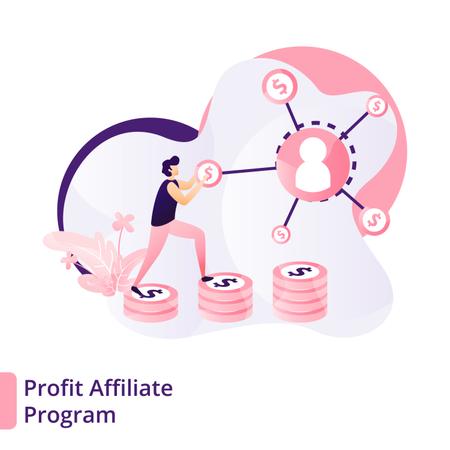 Profit from affiliate program Illustration