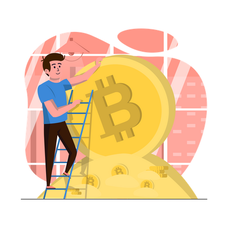 Profit in bitcoin Illustration