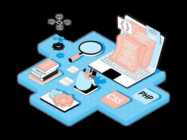 Programming Company Illustration