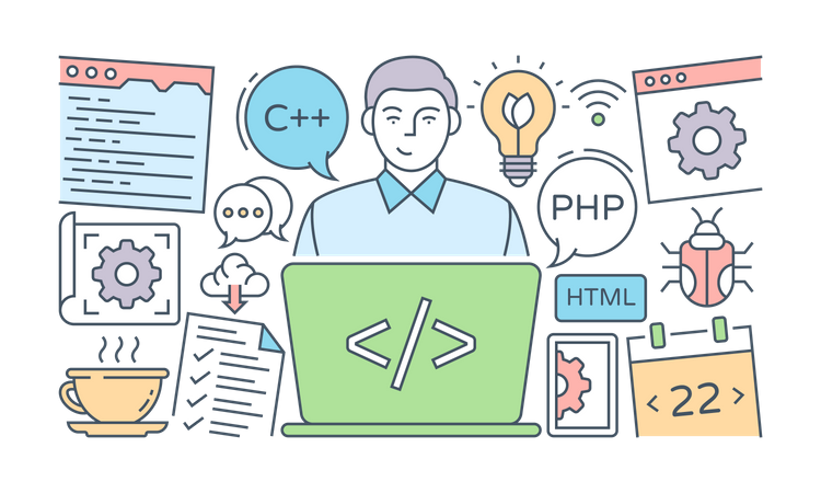Programming Skills Illustration