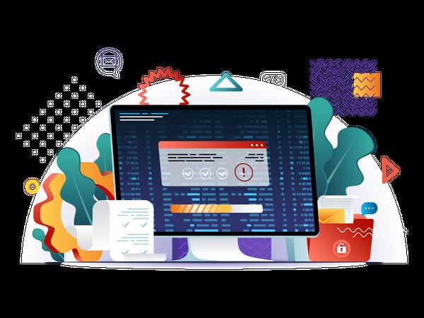 Programming software Illustration