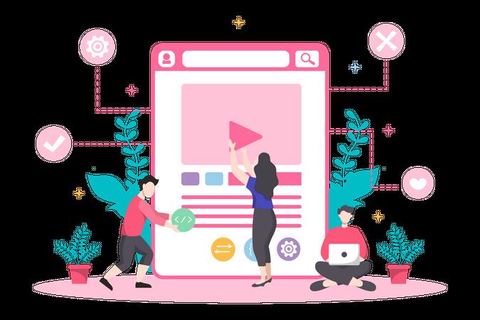 Programming video Illustration