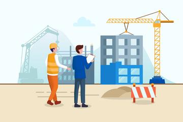 Construction Site Illustration Pack