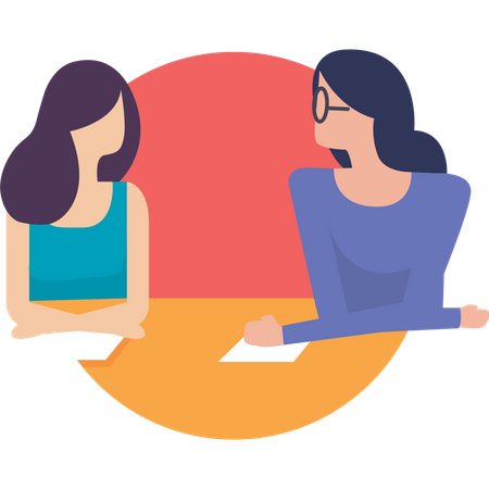 Project Management concept with girls Illustration
