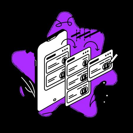 Project management tool Illustration