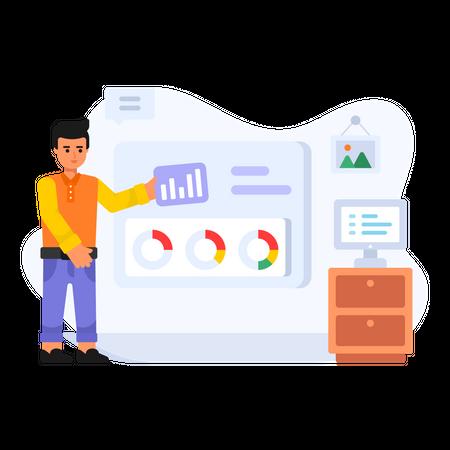 Project Monitoring Illustration