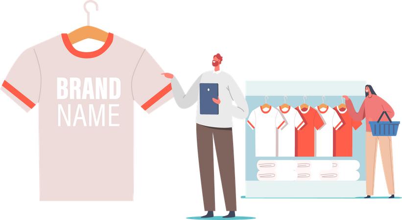 Promotional Product for Brand Identity Illustration
