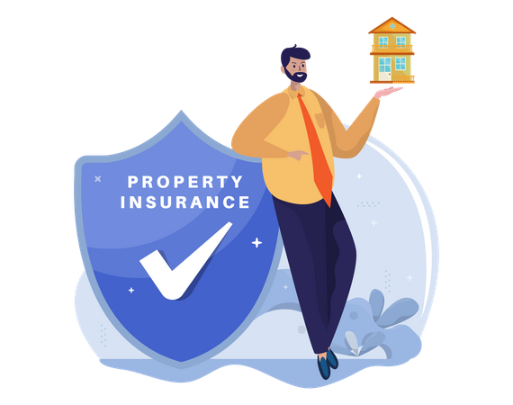 Property insurance agent Illustration