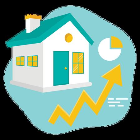 Property Valuation Growth Illustration