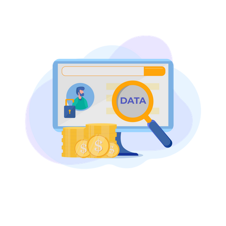 Protect banking client data Illustration