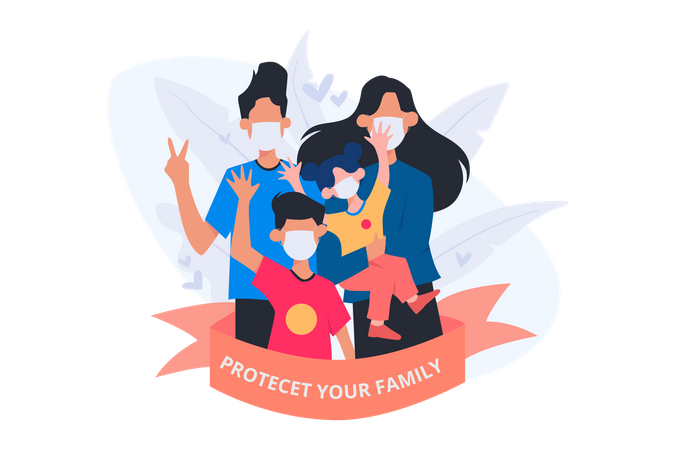 Protect Your Family Illustration