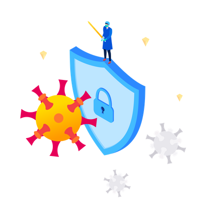 Protect yourself from virus Illustration