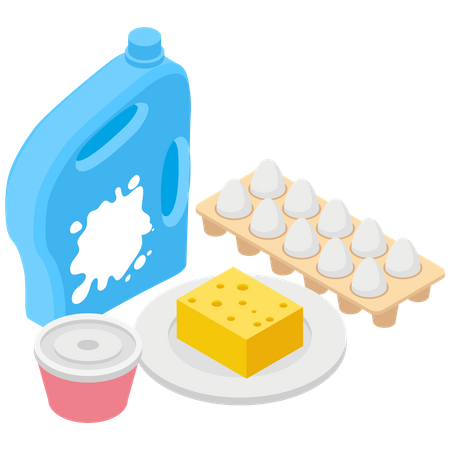 Protein Products Illustration