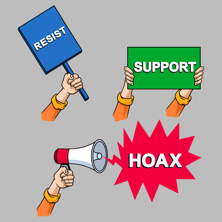 Protest Cartoon Hand Collection Set Illustration