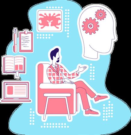 Psychologist giving advise Illustration