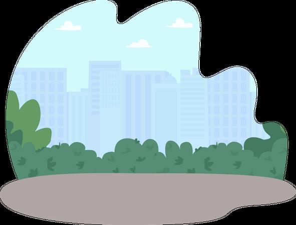 Public park Illustration