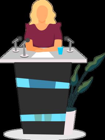 Public speaker Illustration