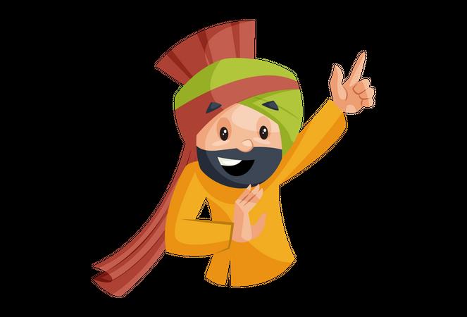 Punjabi man with smiling face Illustration