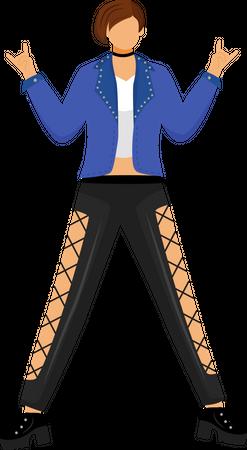 Punk girl Illustration